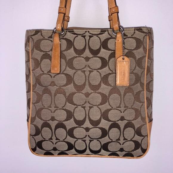 b5dc2c20df Coach Handbags - COACH 6090 SignatureTote Bag Brown canvas leather